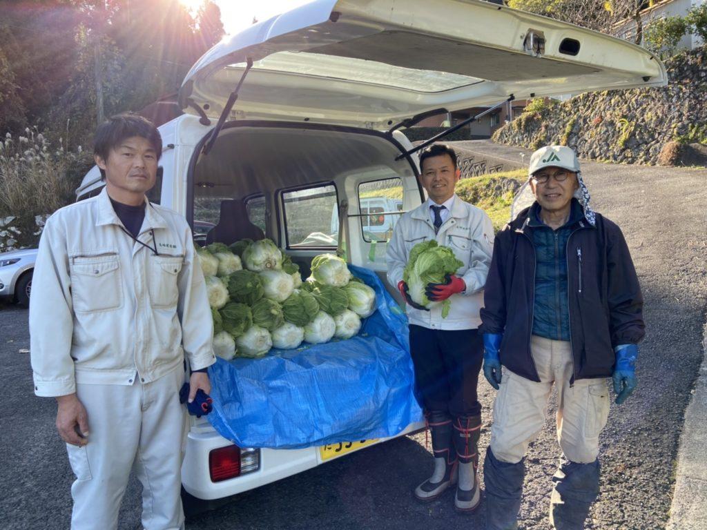 R70の取材(白菜収穫後)