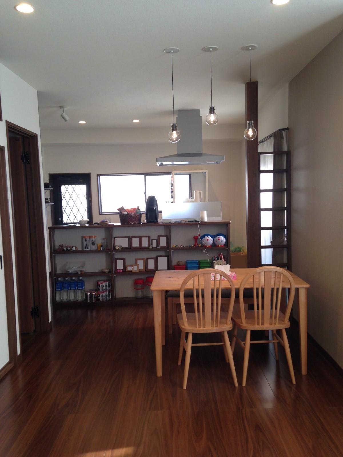 中古住宅のリノベーションーダイニングキッチンAfter