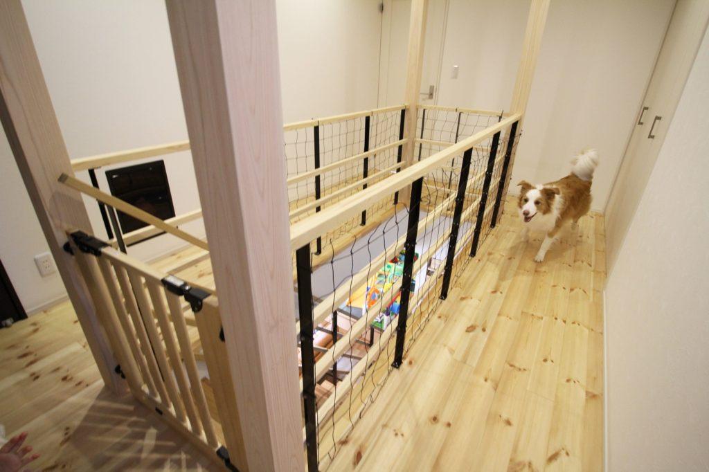 愛犬と共に暮らす家(2階廊下)