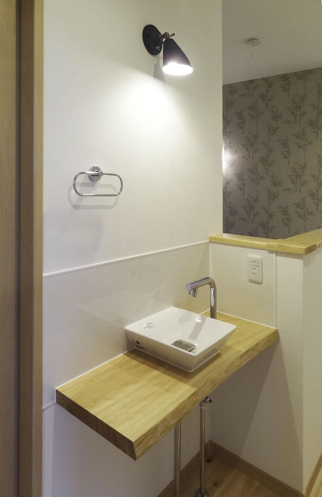 2階トイレの手洗いスペース
